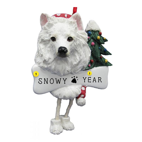 American Eskimo Dog Ornament for Christmas Tree