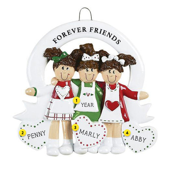 Friends Forever Ornament - Three Friends for Christmas Tree