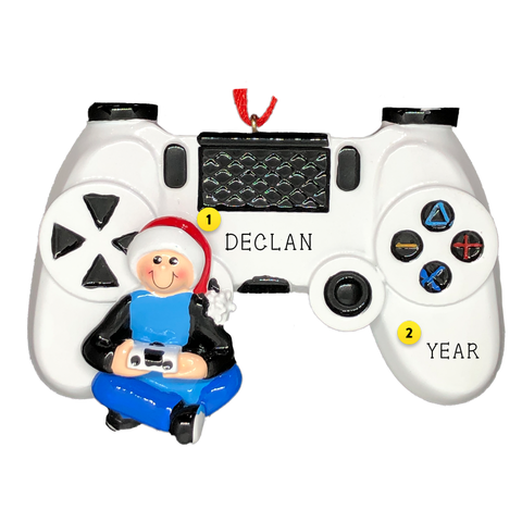 Gaming Ornament Boy with game controller video game Christmas ornament