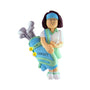 Golf Ornament Female Brunette for Christmas tree