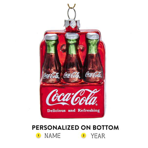 6 Pack Coca-Cola Glass Bottles Ornament For Christmas Tree