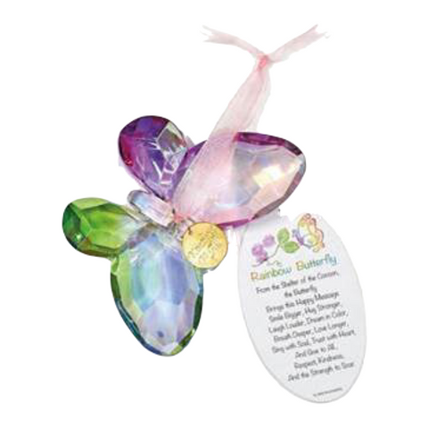Rainbow Butterfly Ornament