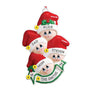 Stocking Cap Family of 4 Ornament for Christmas Tree