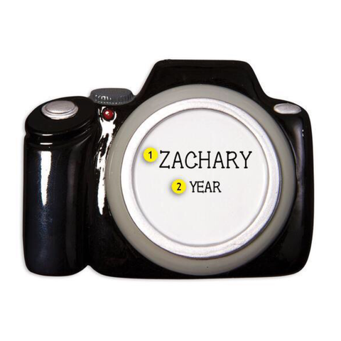 Personalized Camera Christmas Ornament