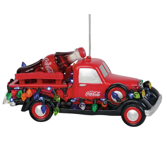 Coca Cola Truck with lights ornament
