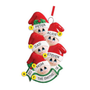 Stocking Cap Family of 5 Ornament for Christmas Tree