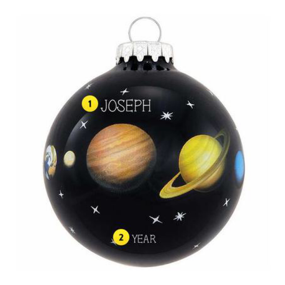 Planets of the Solar System Christmas Ornament