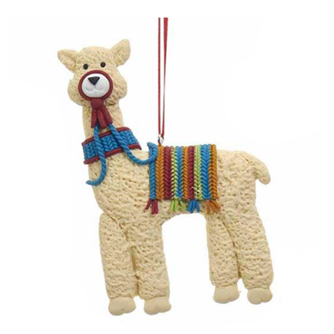 Llama with Blanket Christmas Ornament