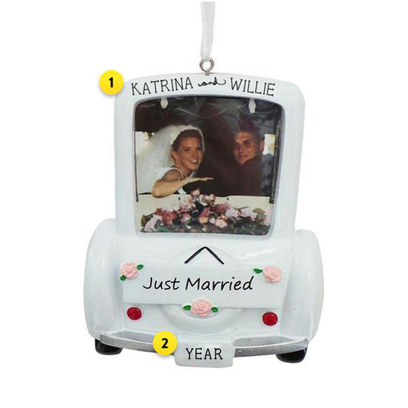 Wedding Car Picture Frame Ornament for Christmas Tree