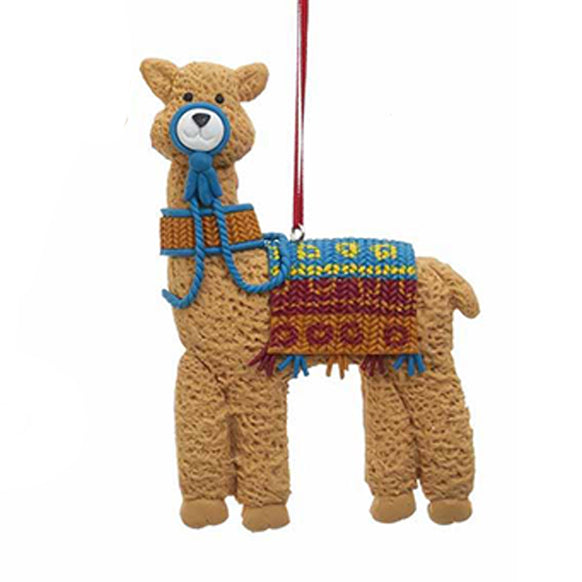Llama with Blanket Ornament