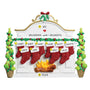 Mantel with Stockings Family of 10 Table Top Decoration