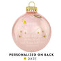 I Will Hold You in my Heart until I Can Hold You in Heaven Pink Glass Memorial ornament