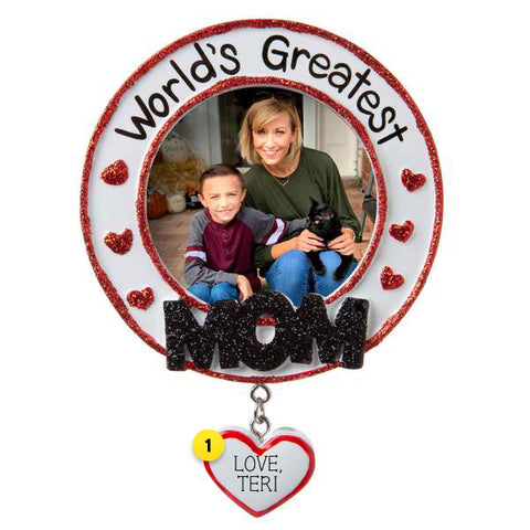 World's Greatest Mom Frame Ornament