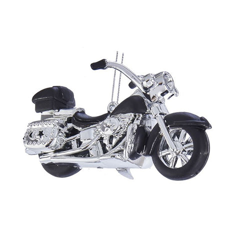 Motorcycle Christmas Ornament - Black