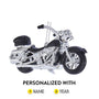 Motorcycle Christmas Ornament - Black Personalized