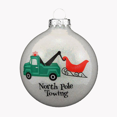 North Pole Towing Ornament For Christmas Tree