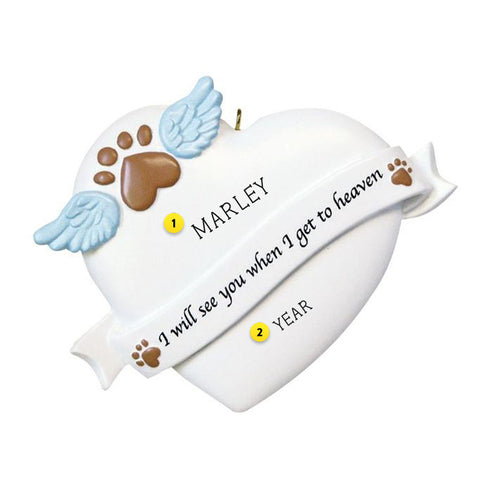 Pet Memorial Heart Ornament