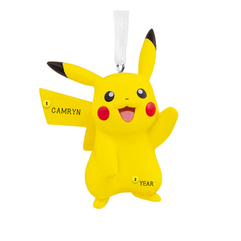 Pikachu pokemon resin ornament