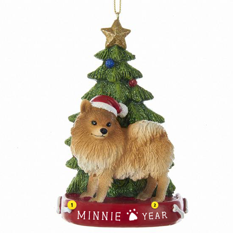 Pomeranian Dog Ornament For Christmas Tree