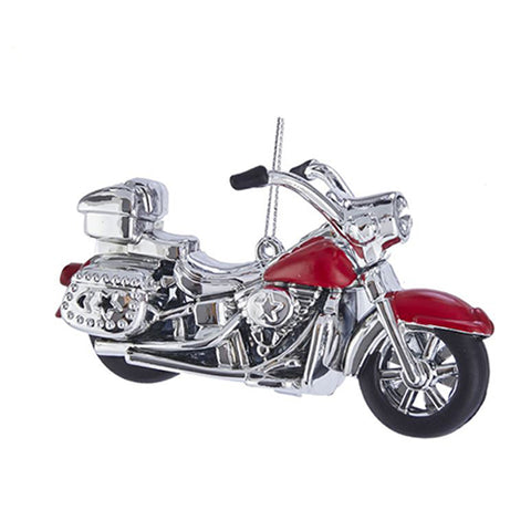 Motorcycle Christmas Ornament - Red