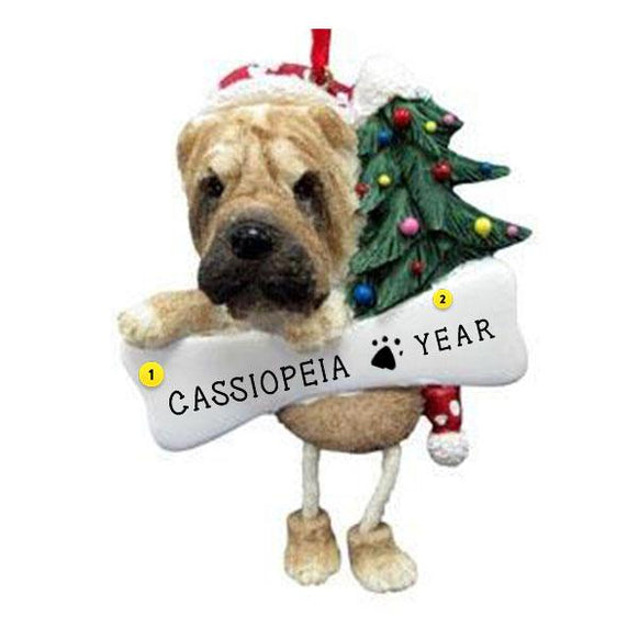 Sharpei Dog Ornament for Christmas Tree