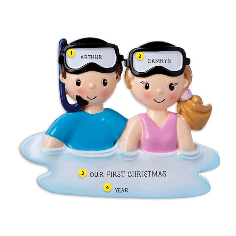 Snorkel Couple Ornament