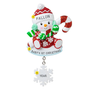 Snowman with Candy Cane Christmas Ornament
