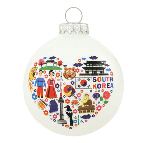 South Korea Christmas Ornament Glass Personalized