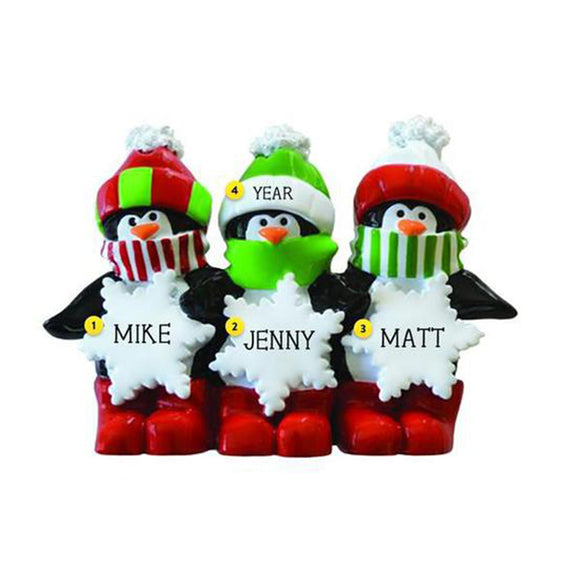 Penguin Family of 3 Table Top Decoration