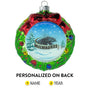 University of Wisconsin-Milwaukee Wreath Christmas Ornament Personalized