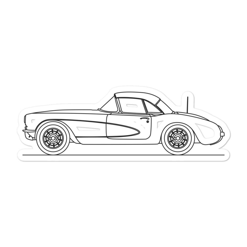 Chevrolet Corvette C1 Sticker - Artlines Design