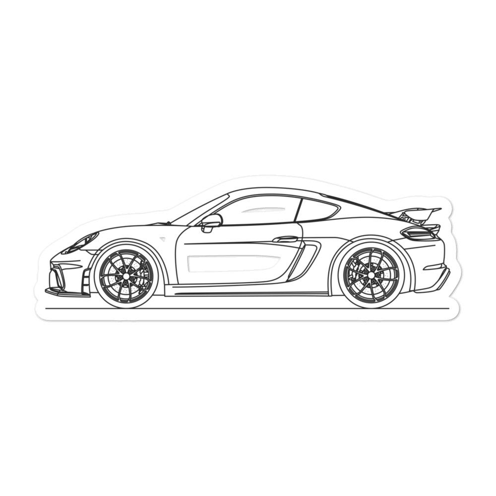 Porsche Cayman GT4 718 Sticker - Artlines Design