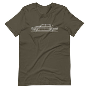 BMW E32 750iL T-shirt Army - Artlines Design