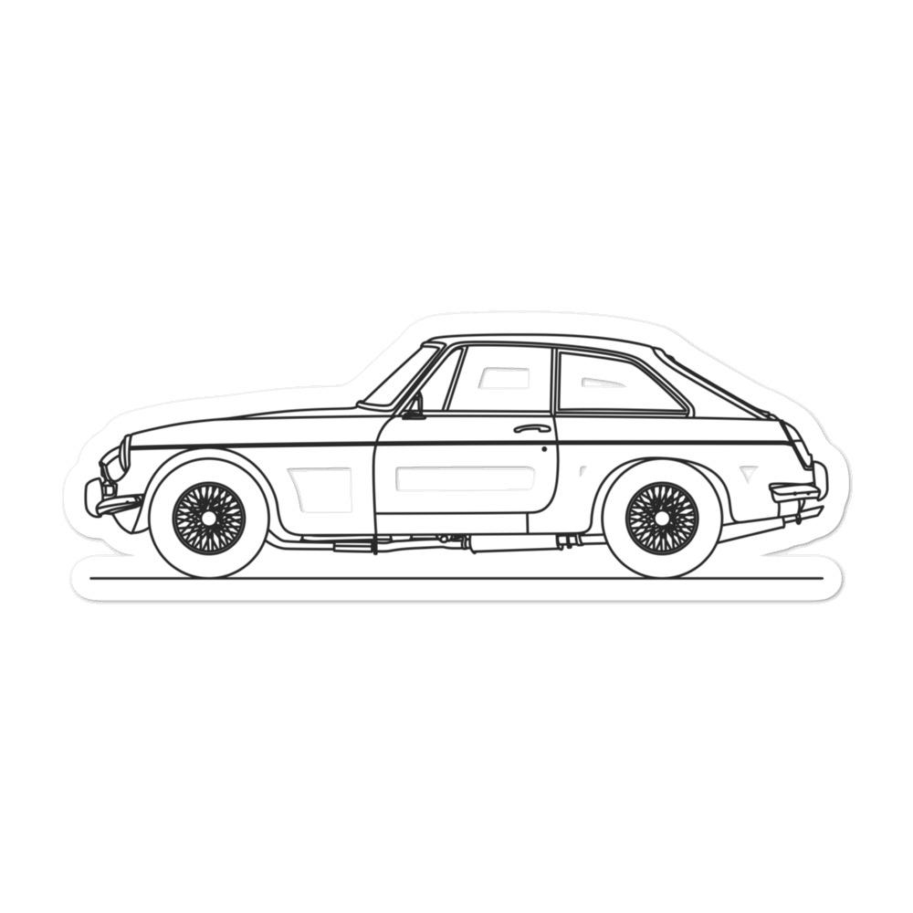 MG MGB Sticker - Artlines Design