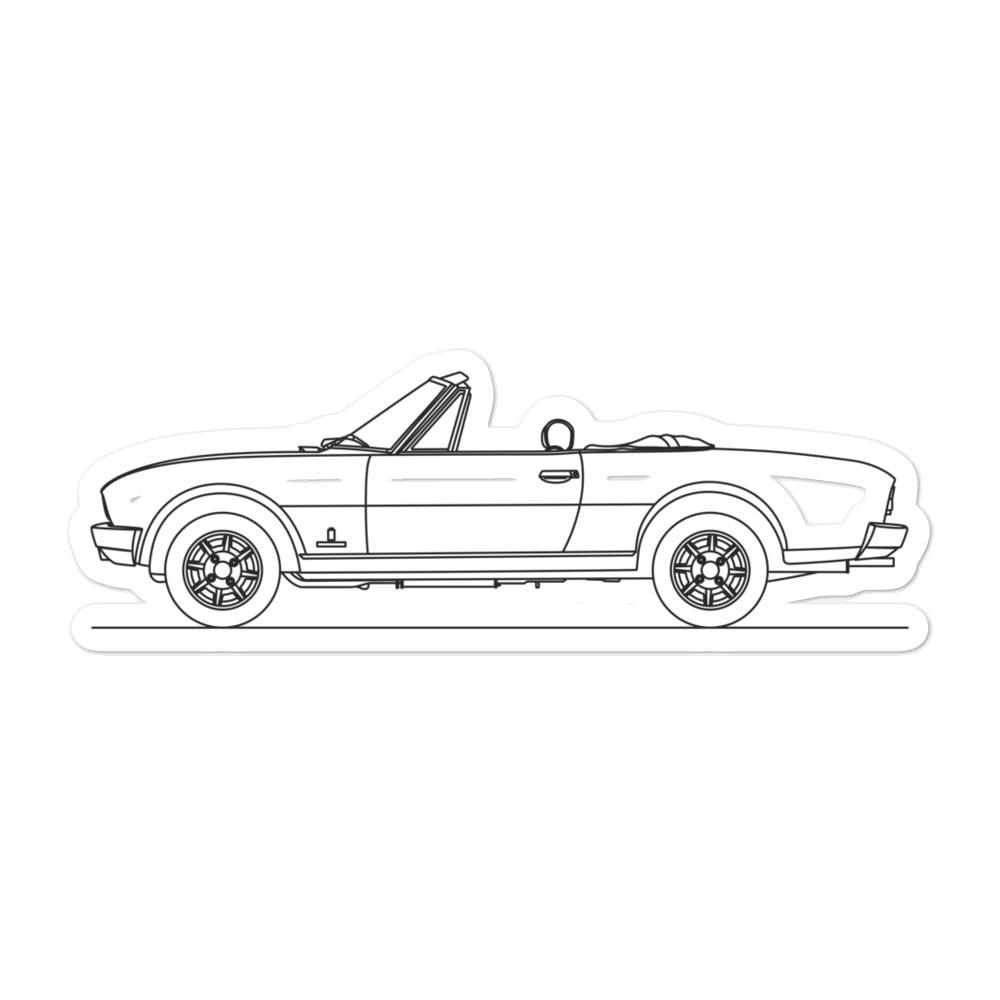 Peugeot 504 Cabrio Sticker - Artlines Design