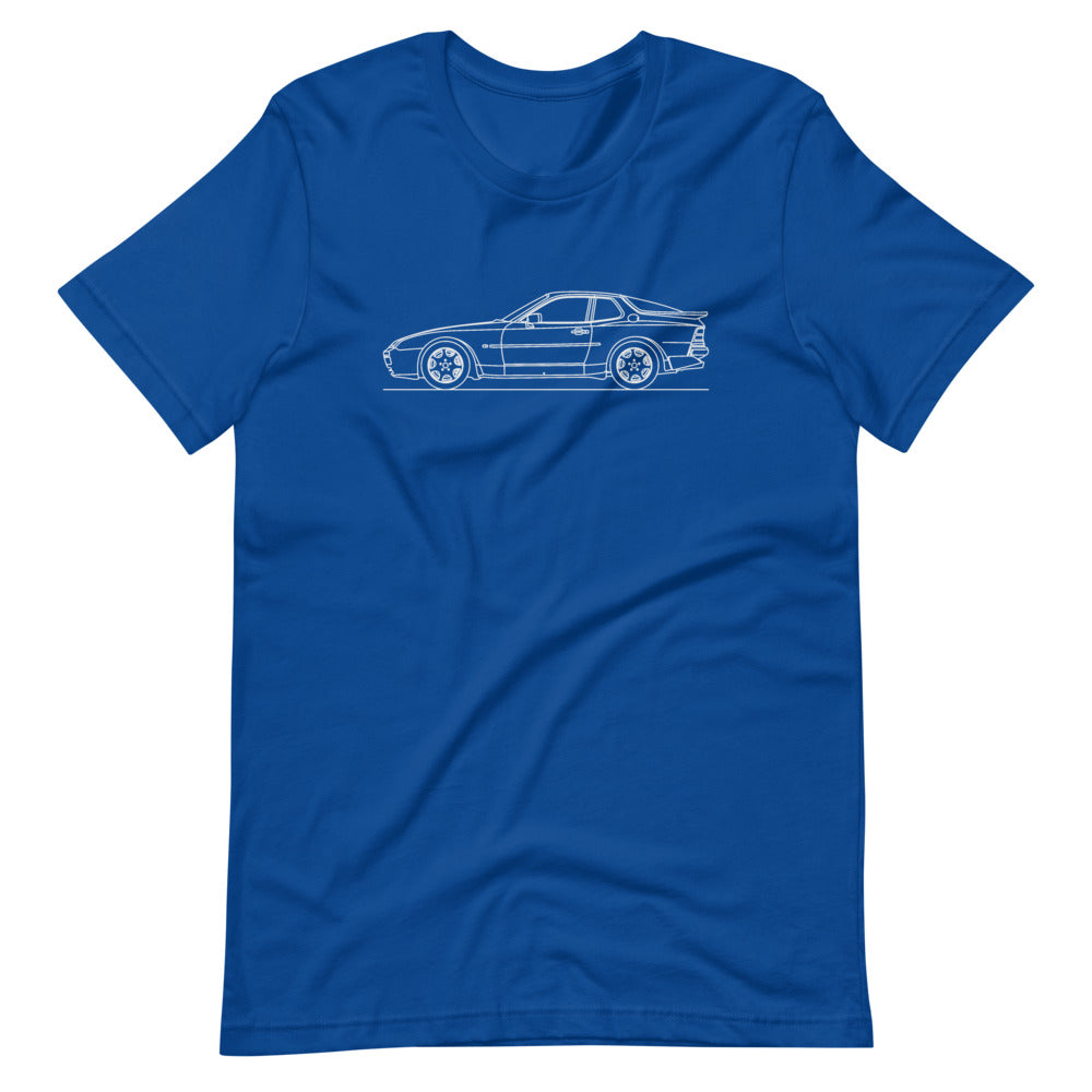 Porsche 944 Turbo S T-shirt True Royal - Artlines Design