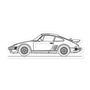Porsche 911 935 Turbo Slantnose Sticker - Artlines Design