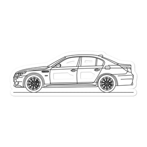 BMW E60 M5 Sticker - Artlines Design