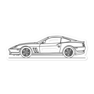 Ferrari 550 Maranello Sticker - Artlines Design