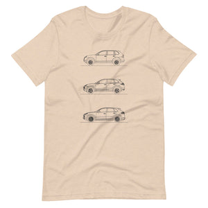 Porsche Cayenne Evolution T-shirt Heather Dust - Artlines Design