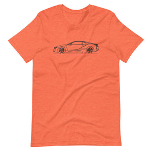 BMW i8 T-shirt Heather Orange - Artlines Design