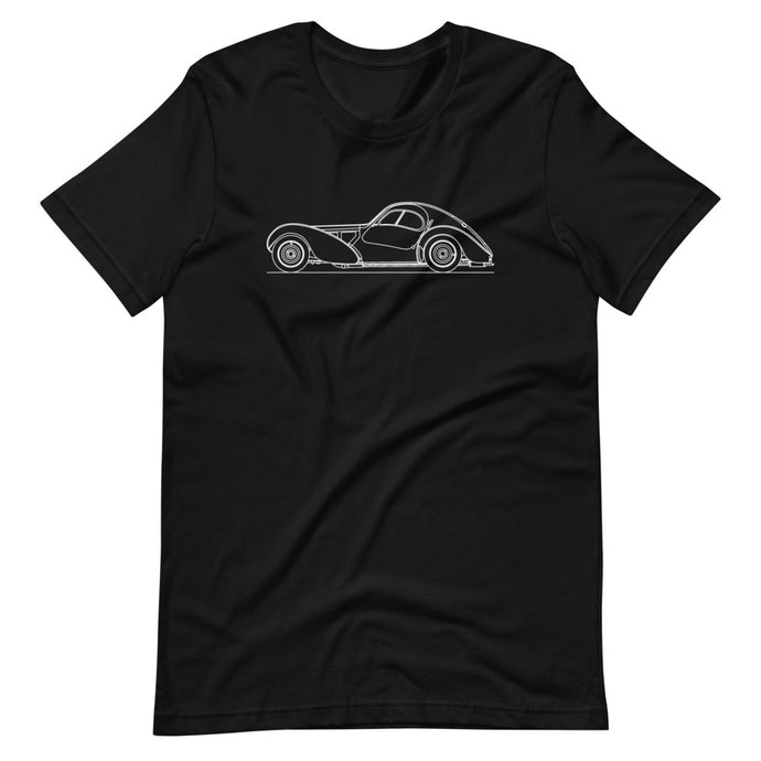 Bugatti Type 57SC Atlantic T-shirt Black '- Artlines Design