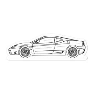 Ferrari 360 Modena Sticker - Artlines Design