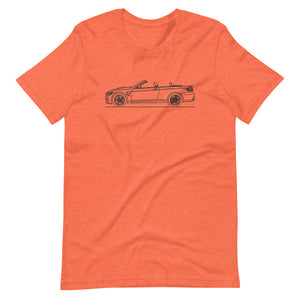 BMW F83 M4 T-shirt Heather Orange - Artlines Design