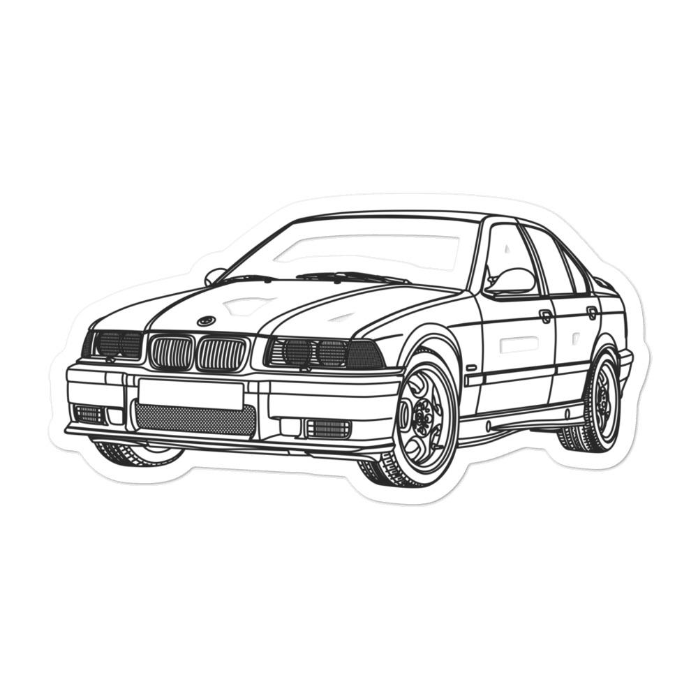 BMW E36 M3 FTQ Sticker - Artlines Design