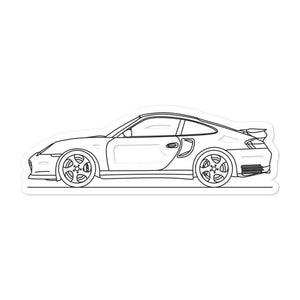 Porsche 911 996 Turbo Sticker - Artlines Design
