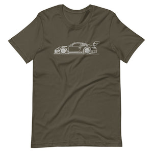 Porsche 911 997.2 GT3-R T-shirt Army - Artlines Design