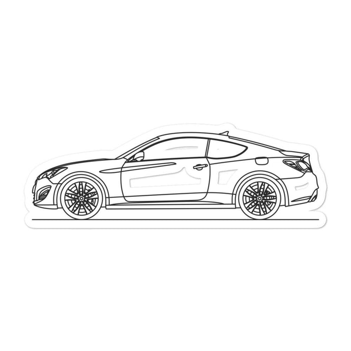 Hyundai Genesis Coupe Sticker - Artlines Design