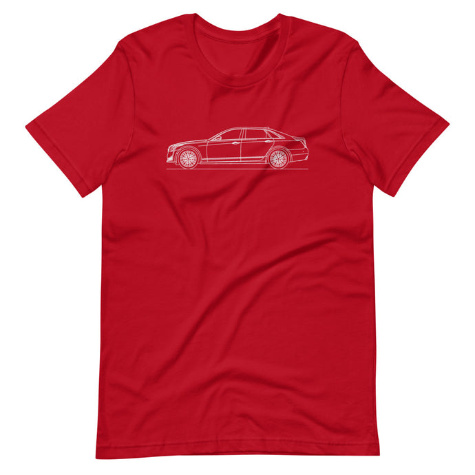 Cadillac CT6 T-shirt Red - Artlines Design