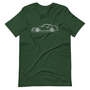 Porsche 911 997.1 GT3 T-shirt Forest - Artlines Design